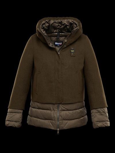 NYLON WOOL DOWN JACKET