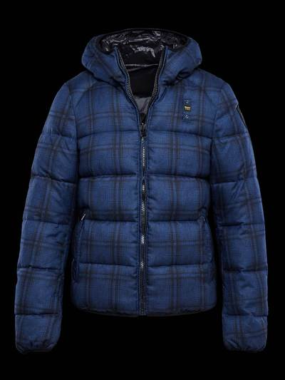 CHECK PRINT NYLON DOWN JACKET
