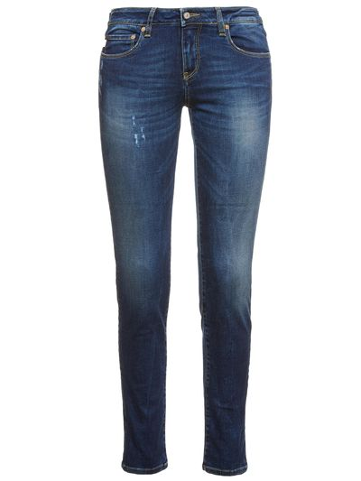 WOMAN BLUE DENIM JEANS