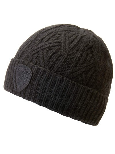 RIBBED BERET WITH TURN-UP