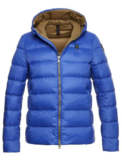 MEN'S DOWN JACKET IN GOOSE DOWN OPAQUE TWO-TONE