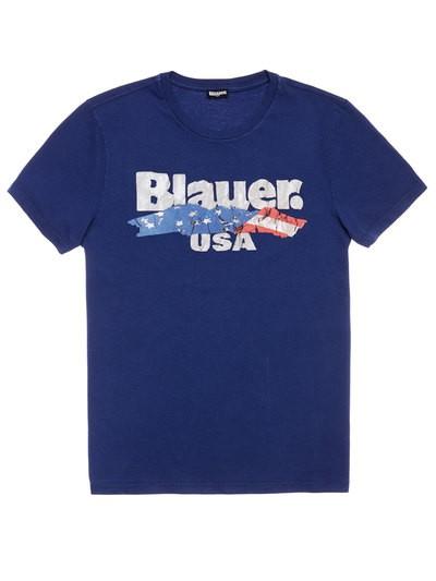 CAMISETA «BLAUER USA» CON BANDERA