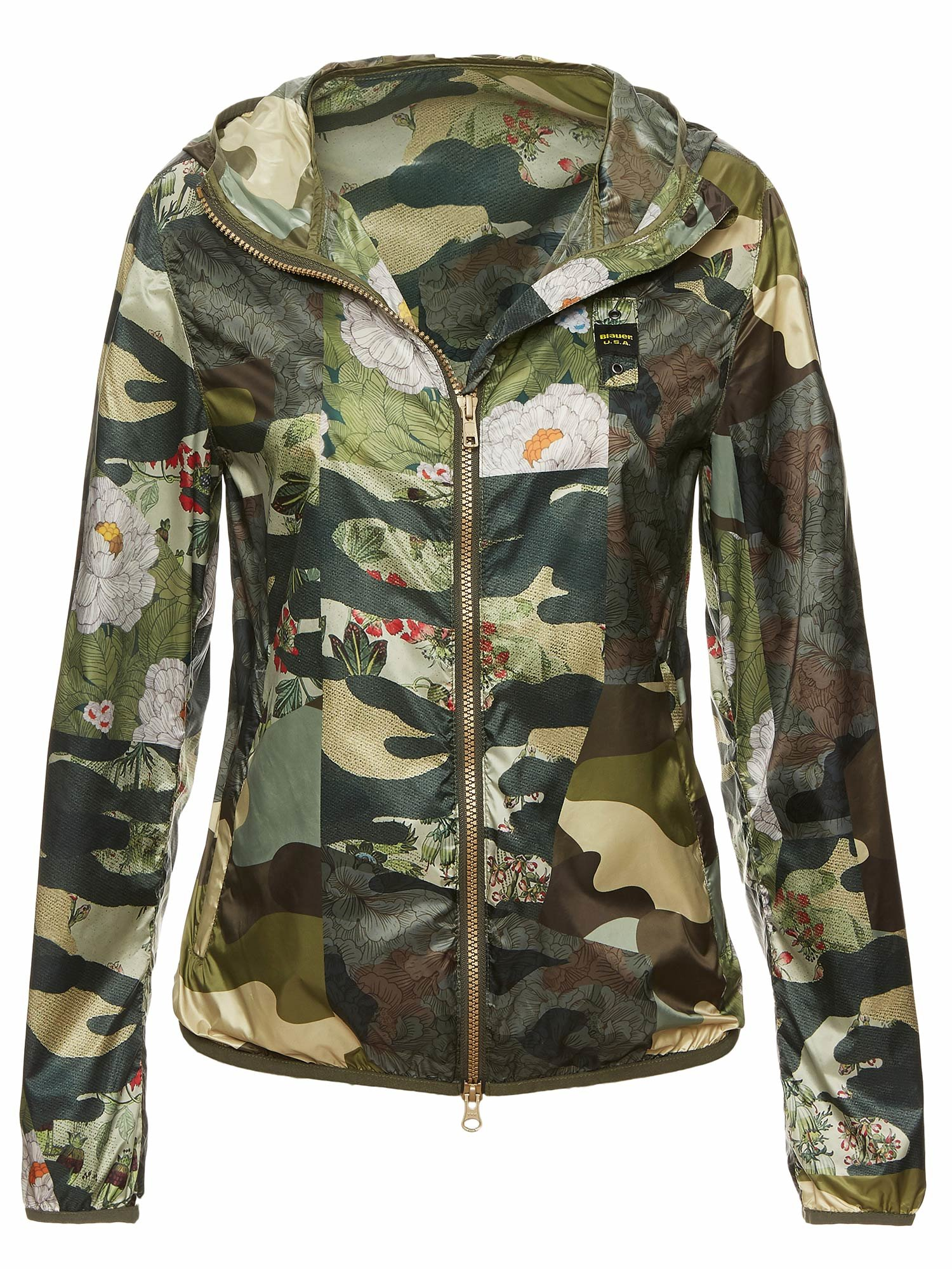 LEAH CAMOUFLAGE HOODED WINDBREAKER - Blauer
