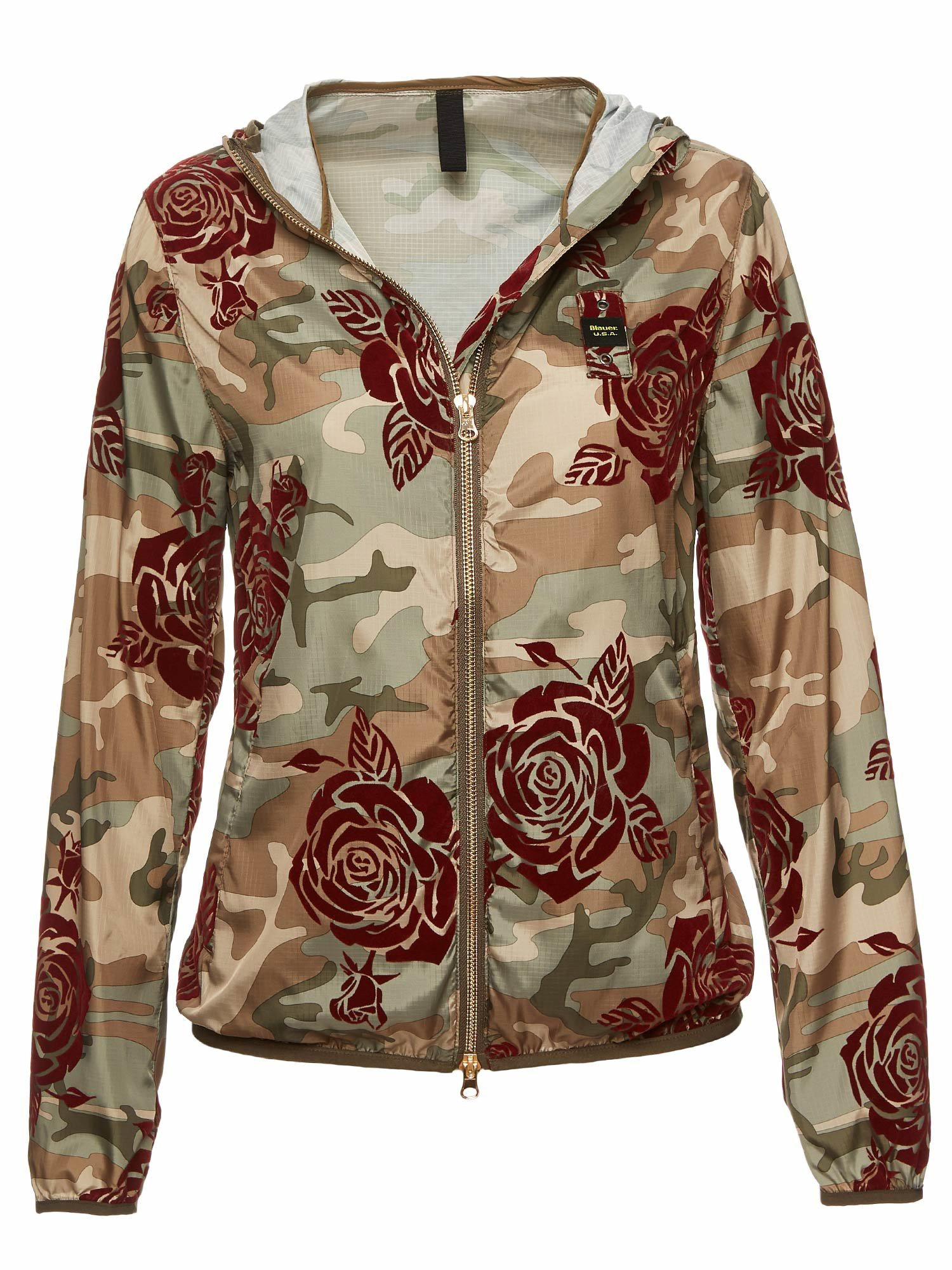 Blauer - LAYLA WINDBREAKER WITH FLORAL MOTIF - Green Reef - Blauer