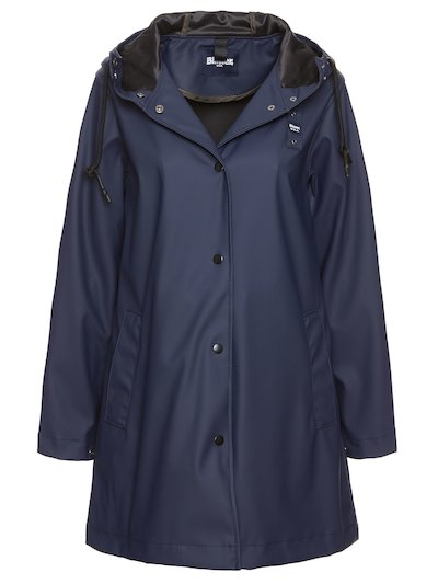 UNLINED RAINCOAT WITH SILVER METALLIC EFFECT