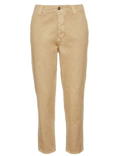 LONG COTTON DOBBY WEAVE TROUSERS