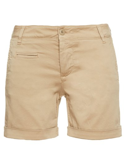 COTTON SATIN BERMUDA SHORTS__