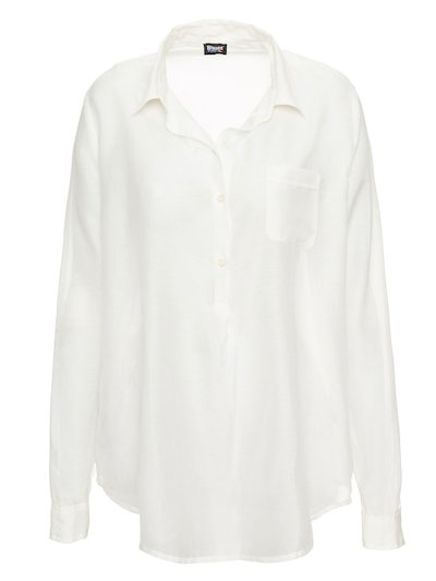 COTTON AND SILK VOILE SHIRT__