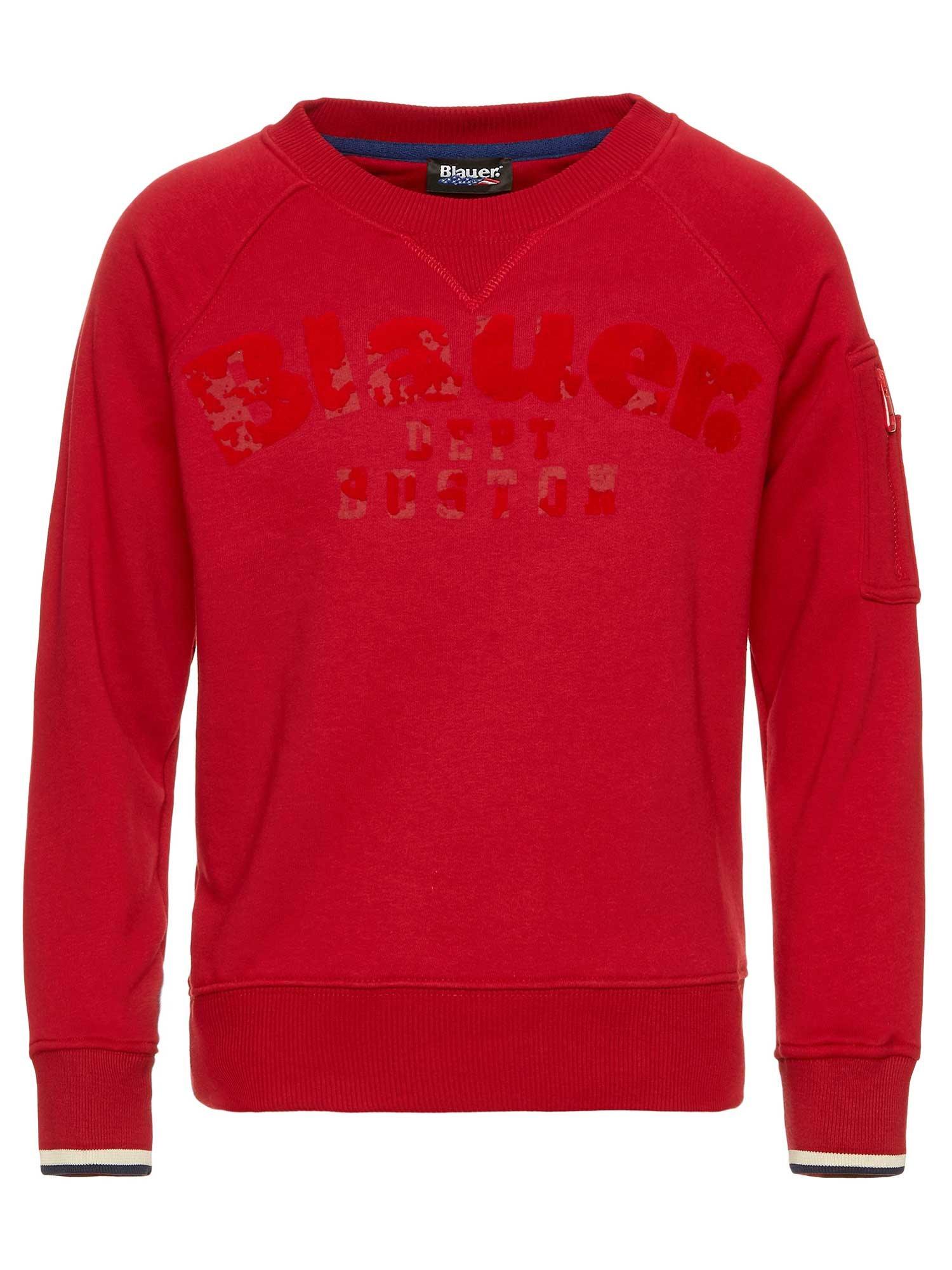 Blauer - KID'S CREW NECK SWEATSHIRT - Red Bloode - Blauer