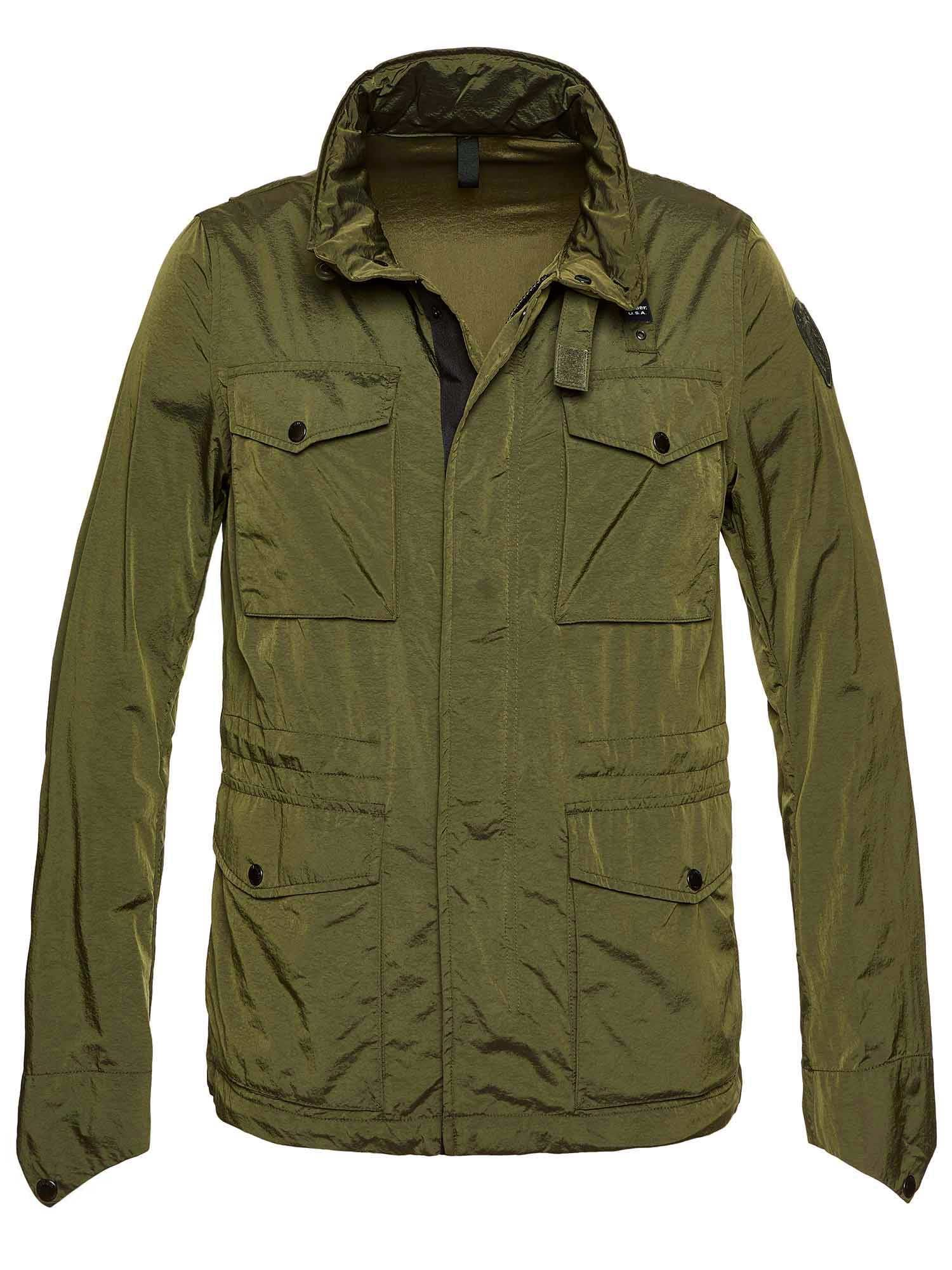 Blauer - FIELD JACKET AUS CHANGIERENDEM NYLON MATTHEW - Alpine Green - Blauer