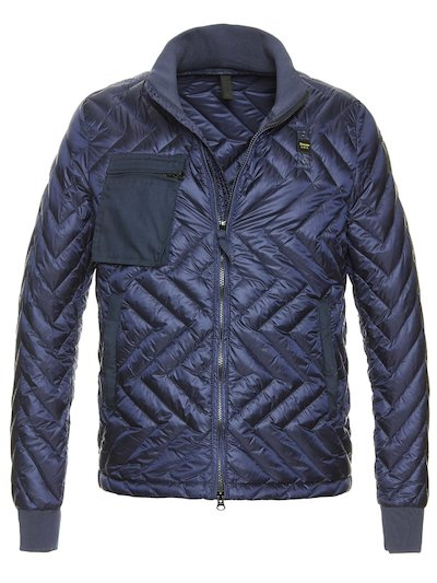 NICOLAS ZIG ZAG QUILTED DOWN JACKET