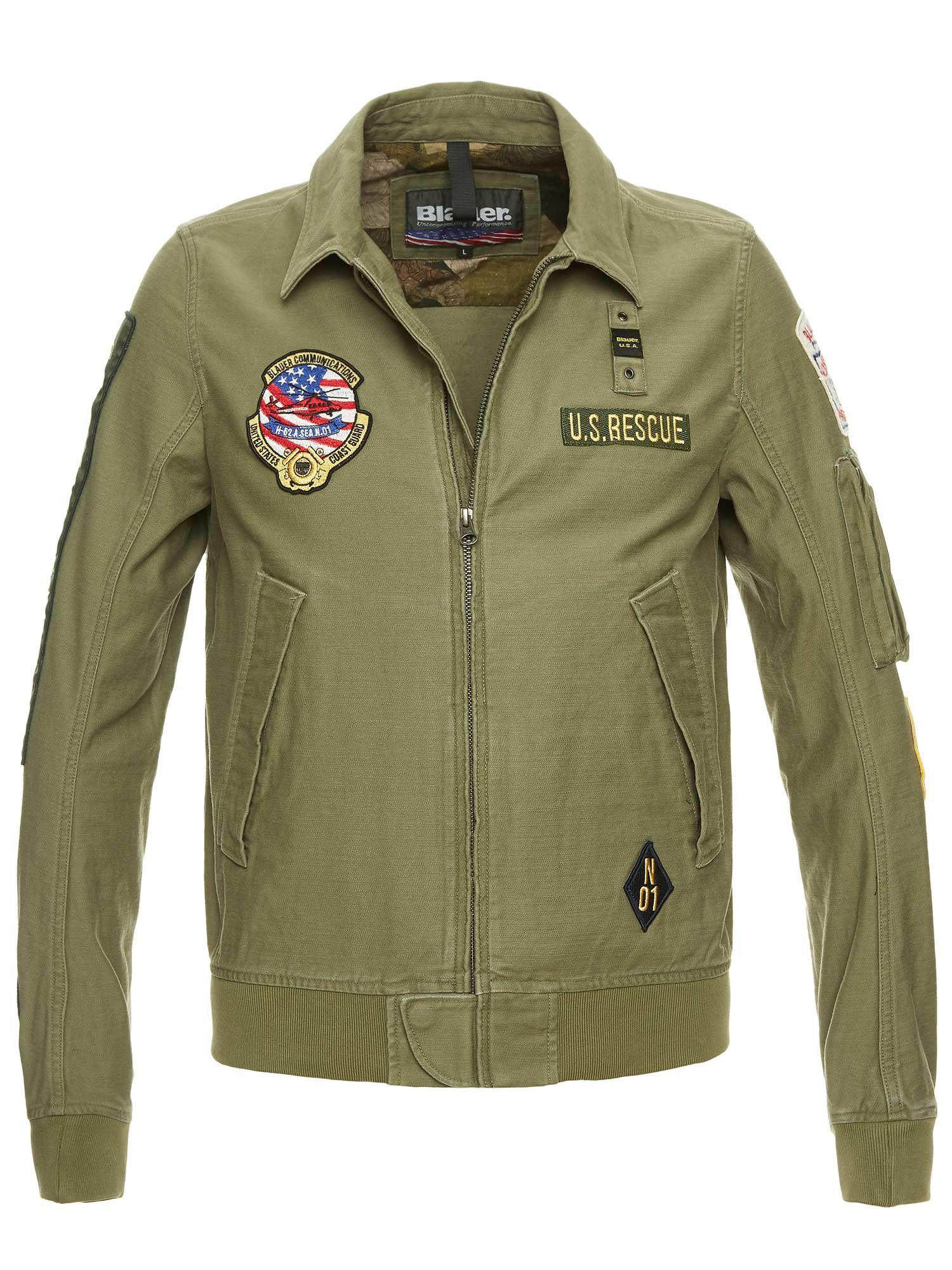 LUKE UNLINED MILITARY BOMBER - Blauer