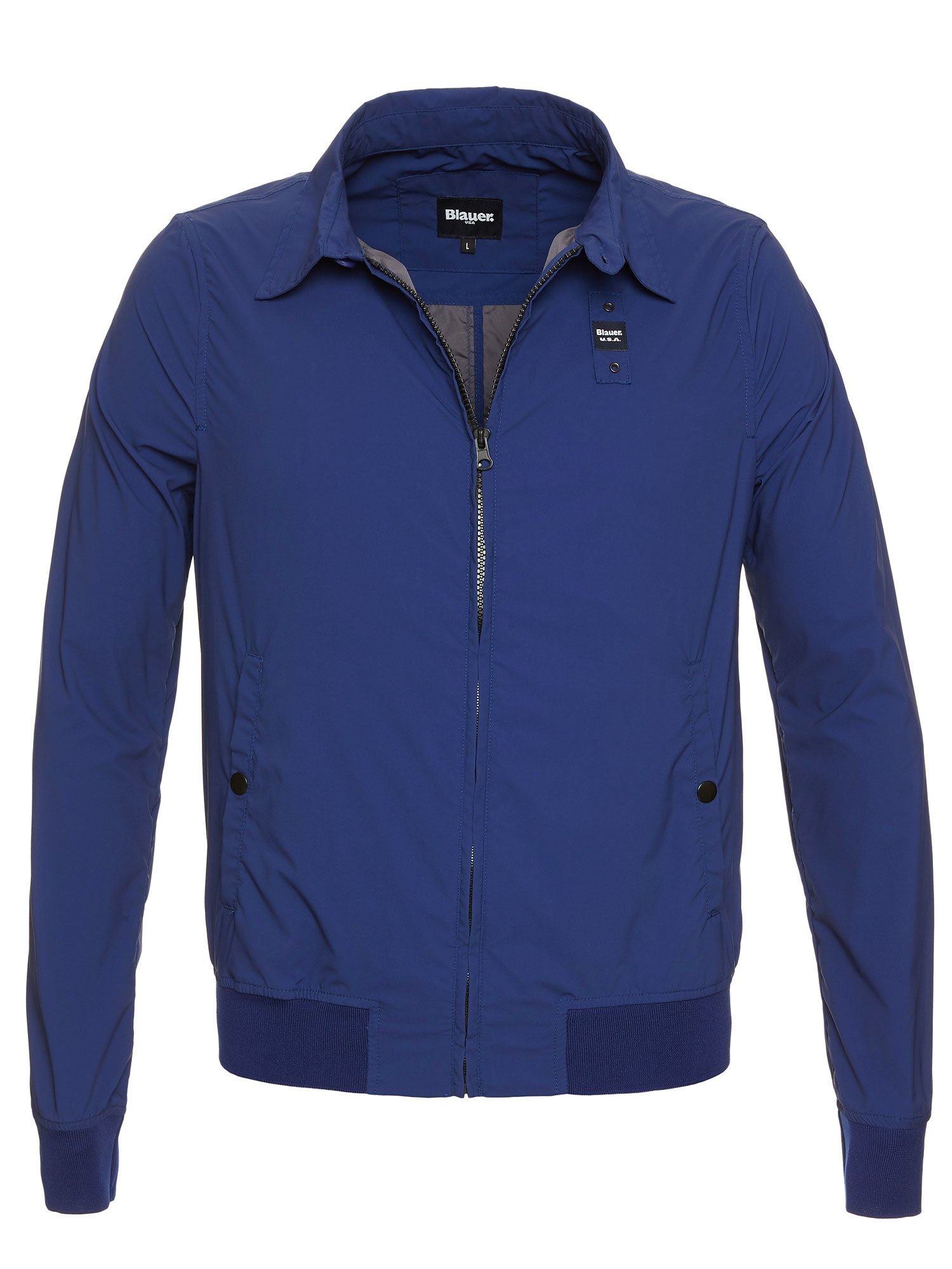 Blauer - CONNOR LIGHTWEIGHT JACKET WITH COLLAR - Blue Limoges - Blauer
