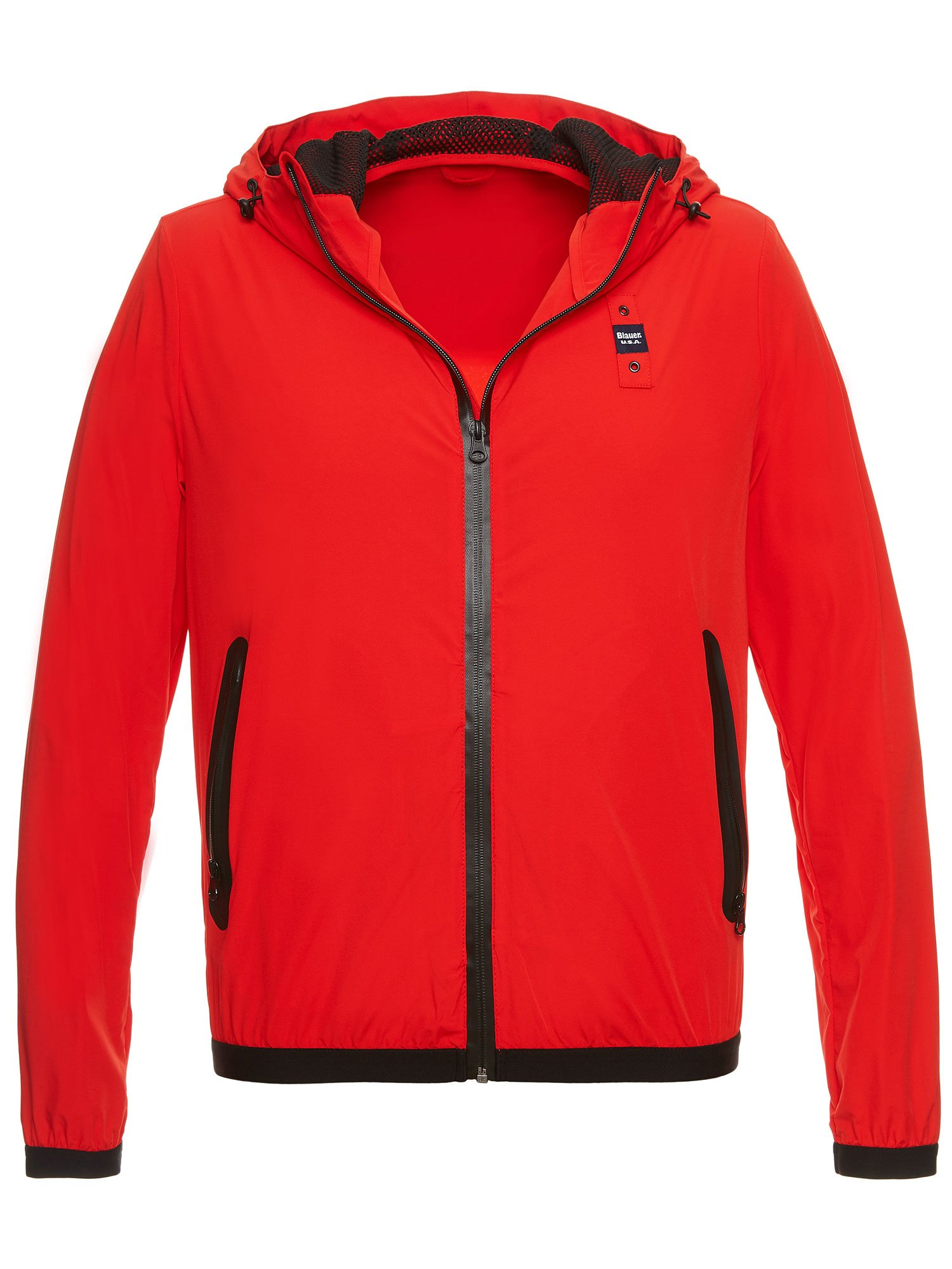 Blauer - EVAN MATTE JACKET WITH HOOD - Bright Red - Blauer