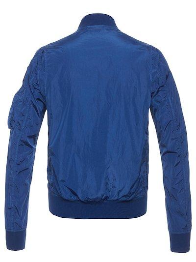 Blaue jacke mit blauem fell