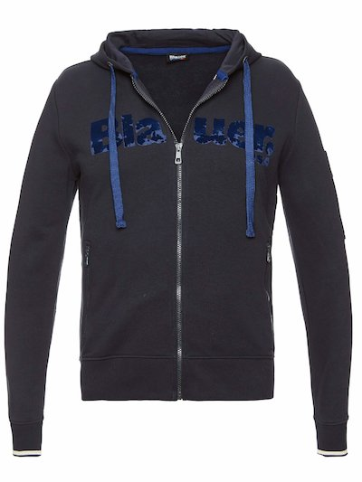 OPEN SWEATSHIRT WITH HOOD