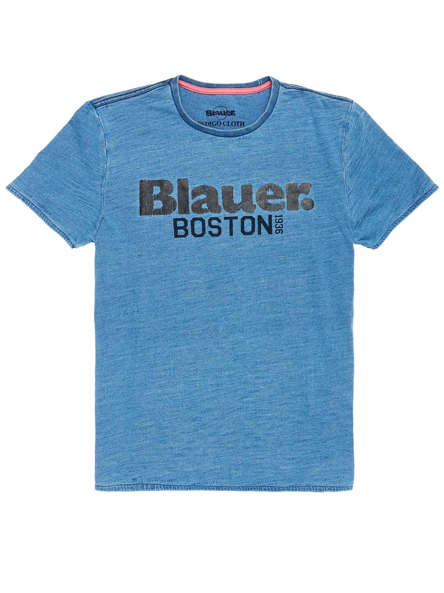 Blauer - JERSEY T-SHIRT BLAUER BOSTON 1936 - Blue Thames - Blauer