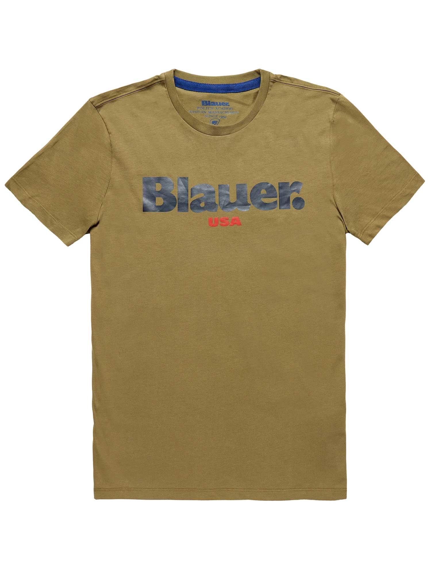 Blauer - BLAUER USA T-SHIRT - Green Algae - Blauer