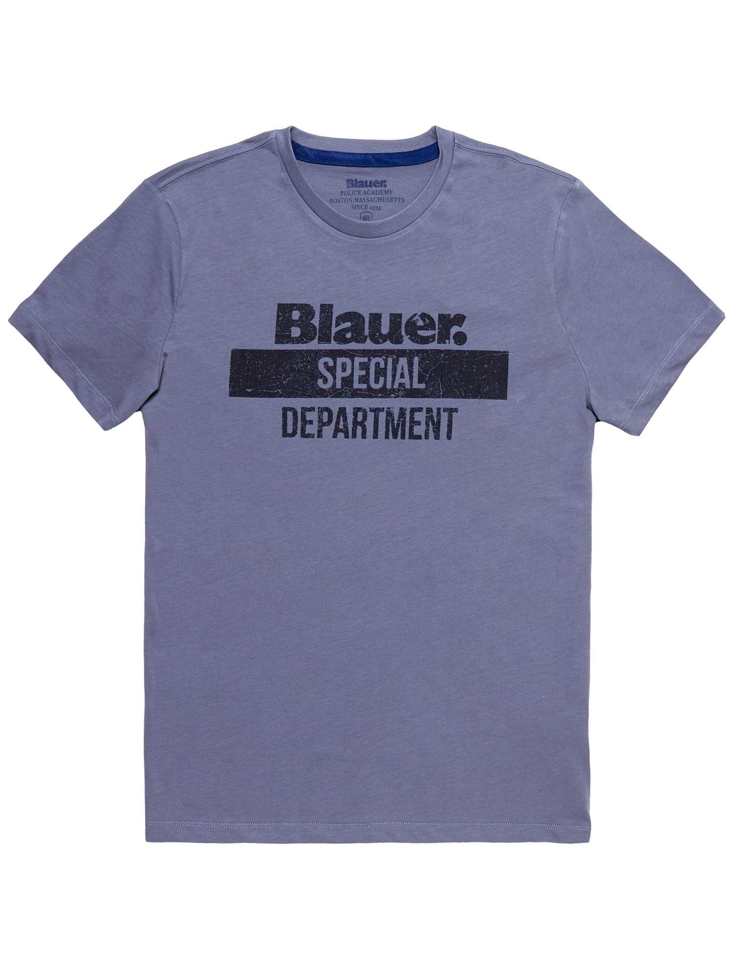 Blauer - BLAUER SPECIAL DEPARTMENT T-SHIRT - Dark Avio - Blauer