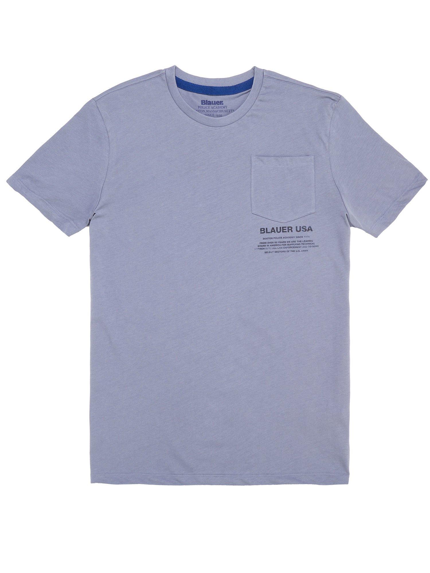 Blauer - T-SHIRT CON TASCHINO - Avio Scuro - Blauer