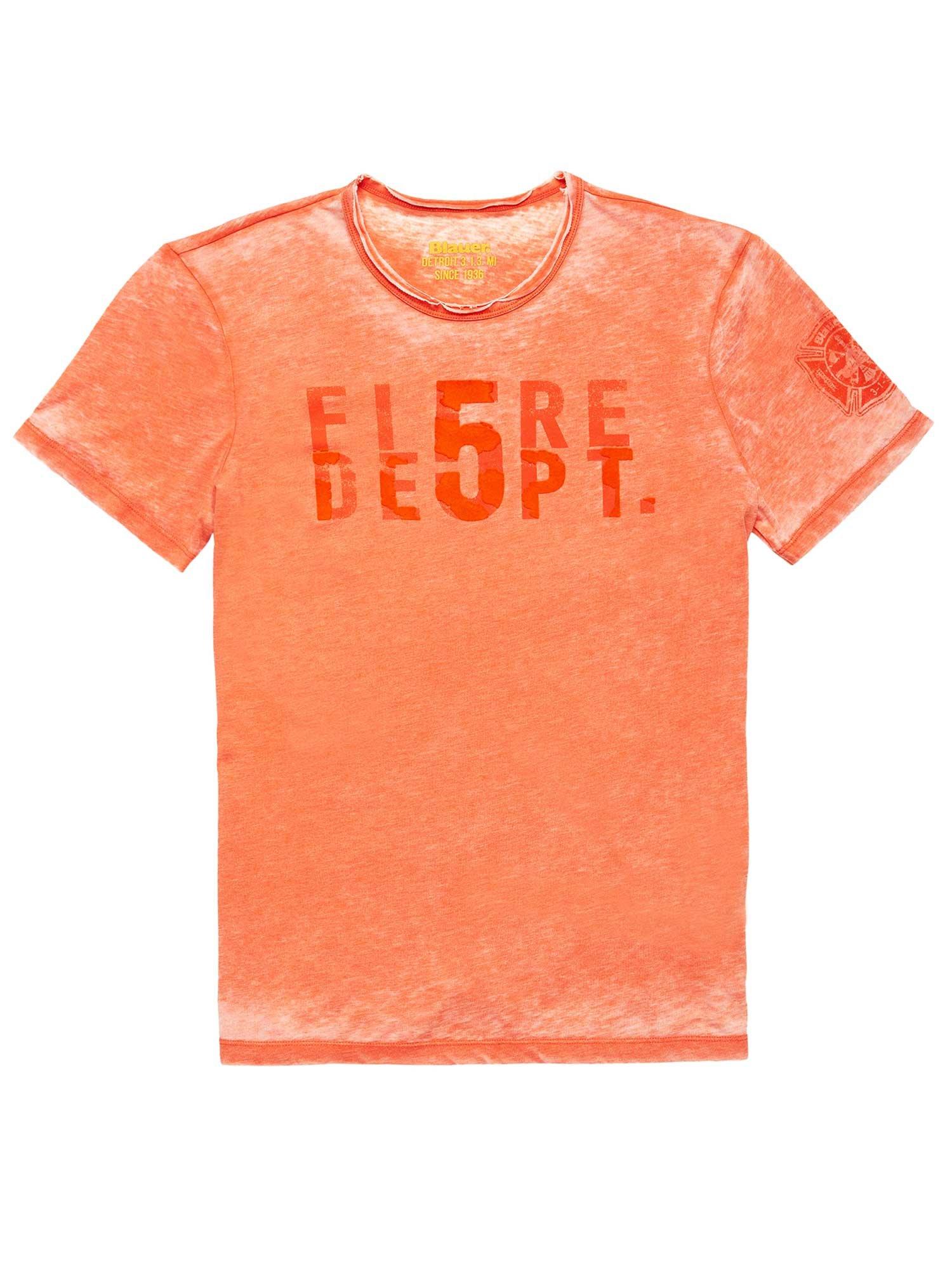 Blauer - T-SHIRT FIRE 5 DEPT. - Mandarino - Blauer