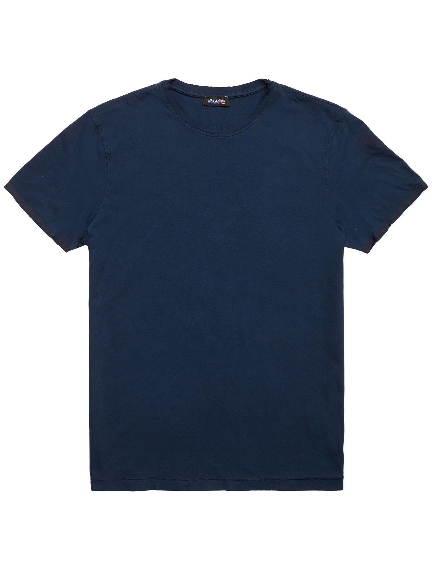 Blauer - BICOLOUR EDGE T-SHIRT - Midnight Blue - Blauer