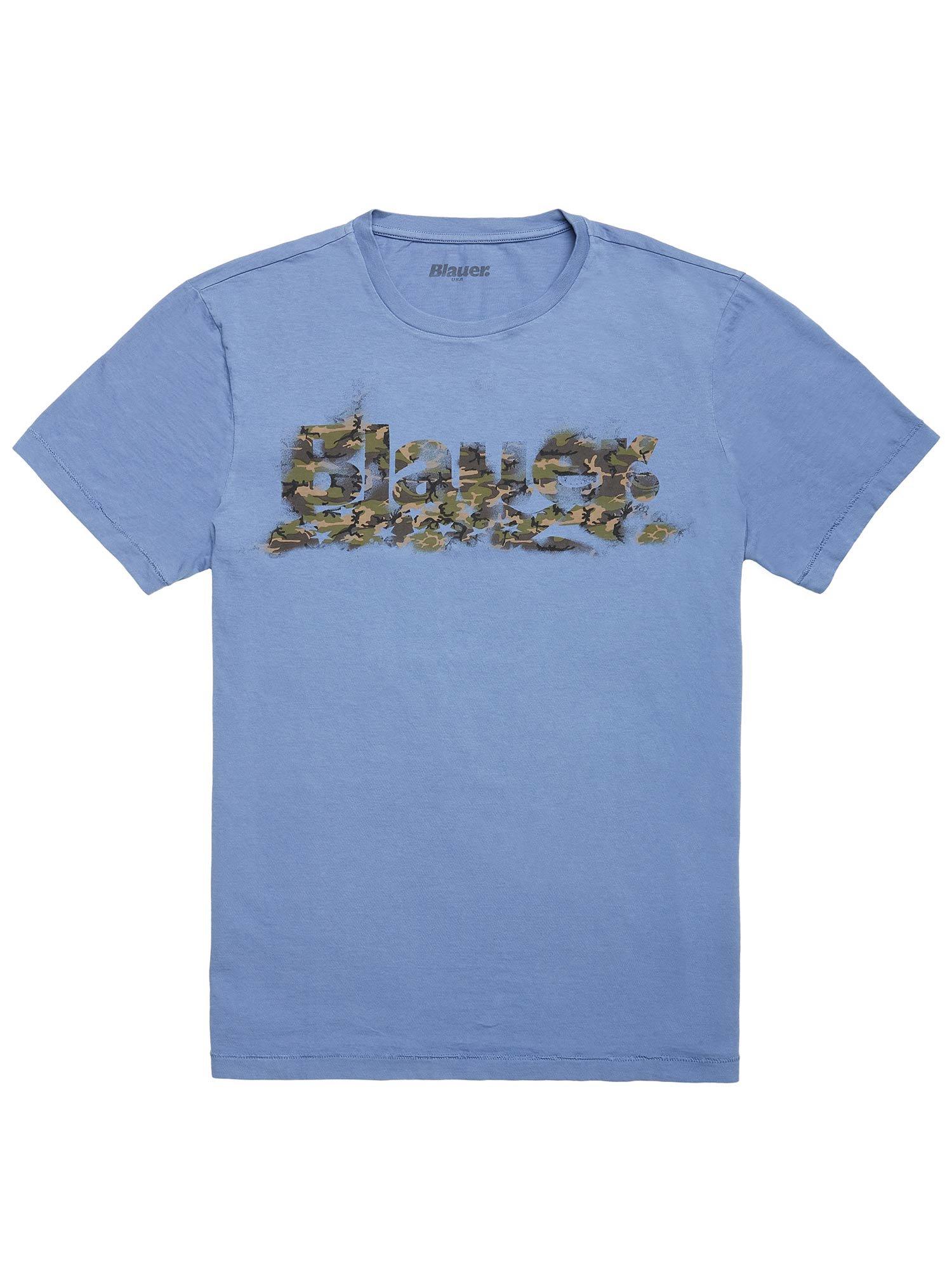 BLAUER CAMO PRINT T-SHIRT - Blauer