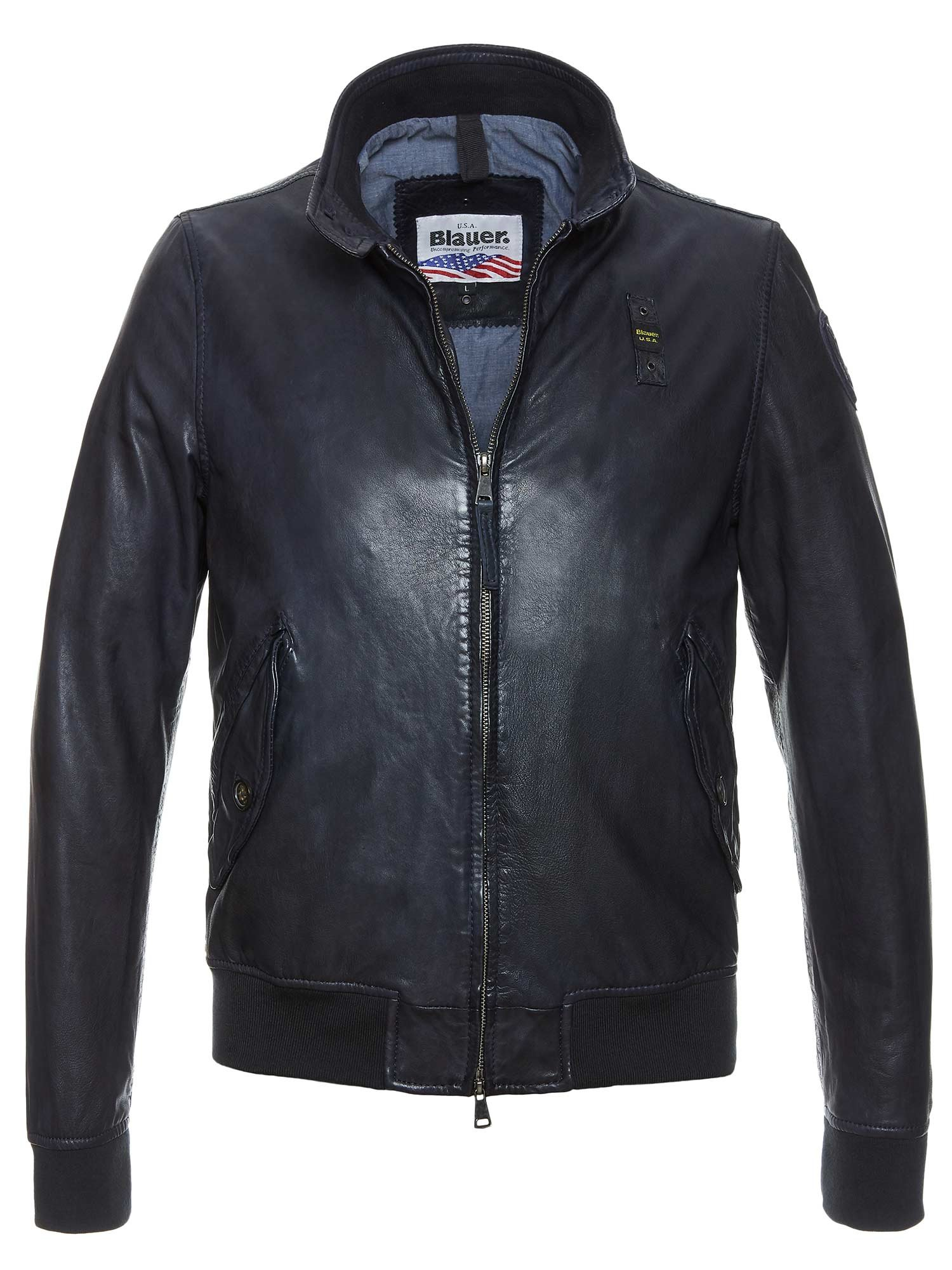 ADAM RUGGED LEATHER BOMBER - Blauer