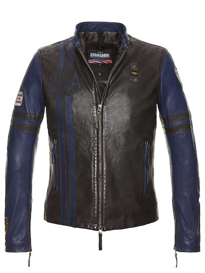 GIUBBOTTO BIKERS BICOLOR KEVIN