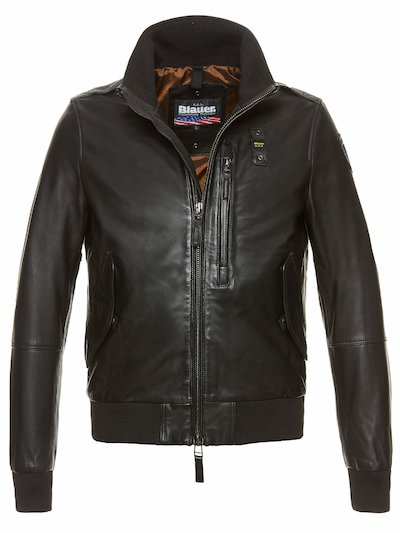 JACOB LEATHER BOMBER