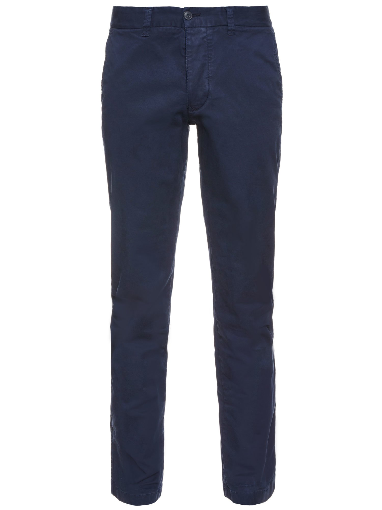 Blauer - LONG GABARDINE TROUSERS - Midnight Blue - Blauer