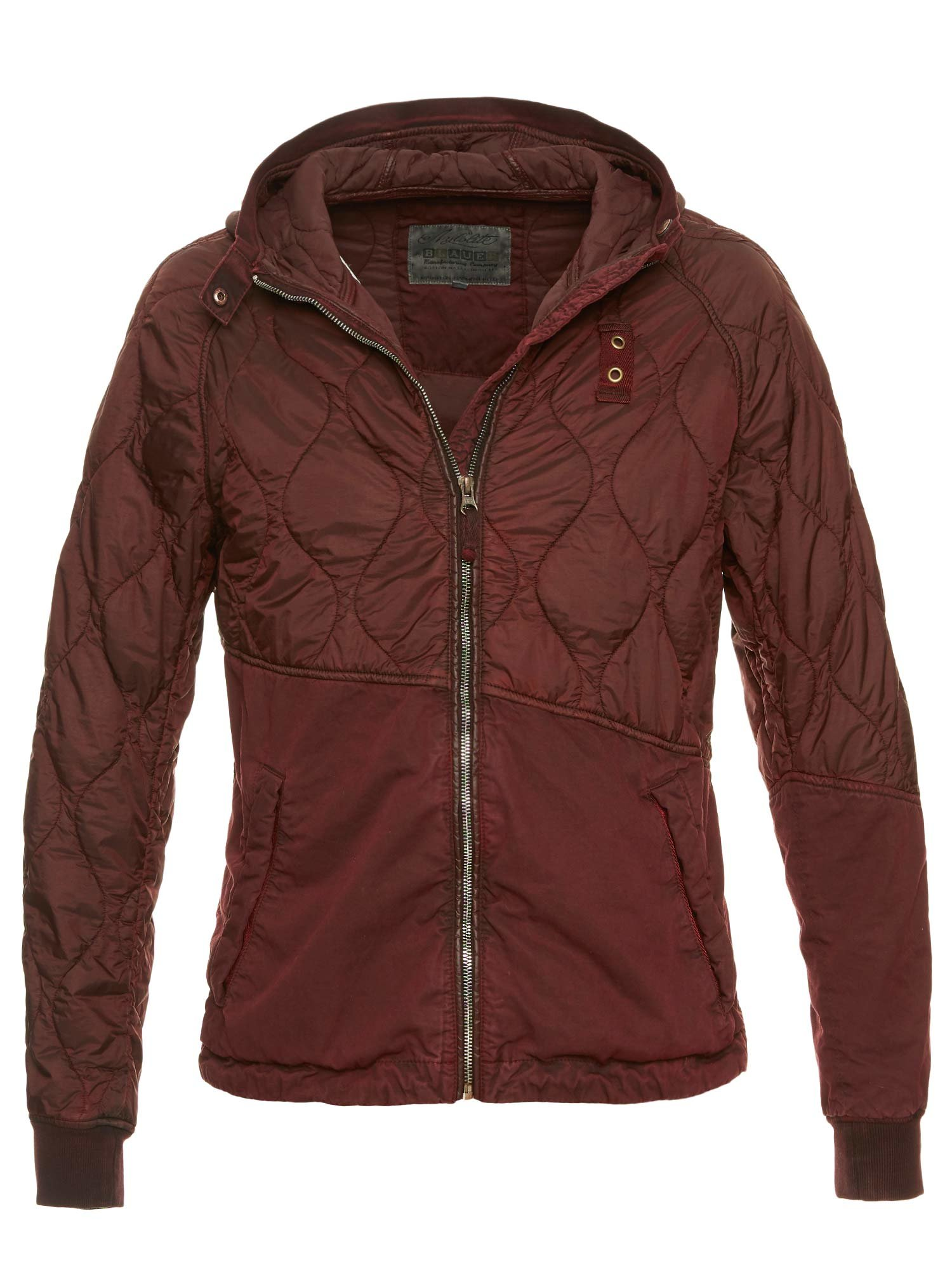 Blauer - HELMUT PATCHWORK NYLON COTTON JACKET - Beaver Brown - Blauer