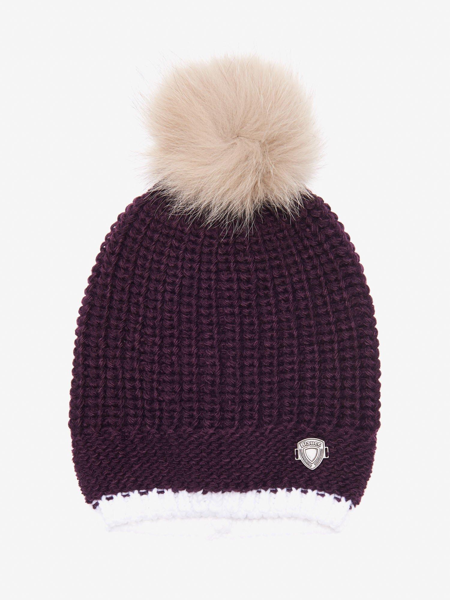 Blauer - HAT WITH POMPOM - Bright Purple - Blauer