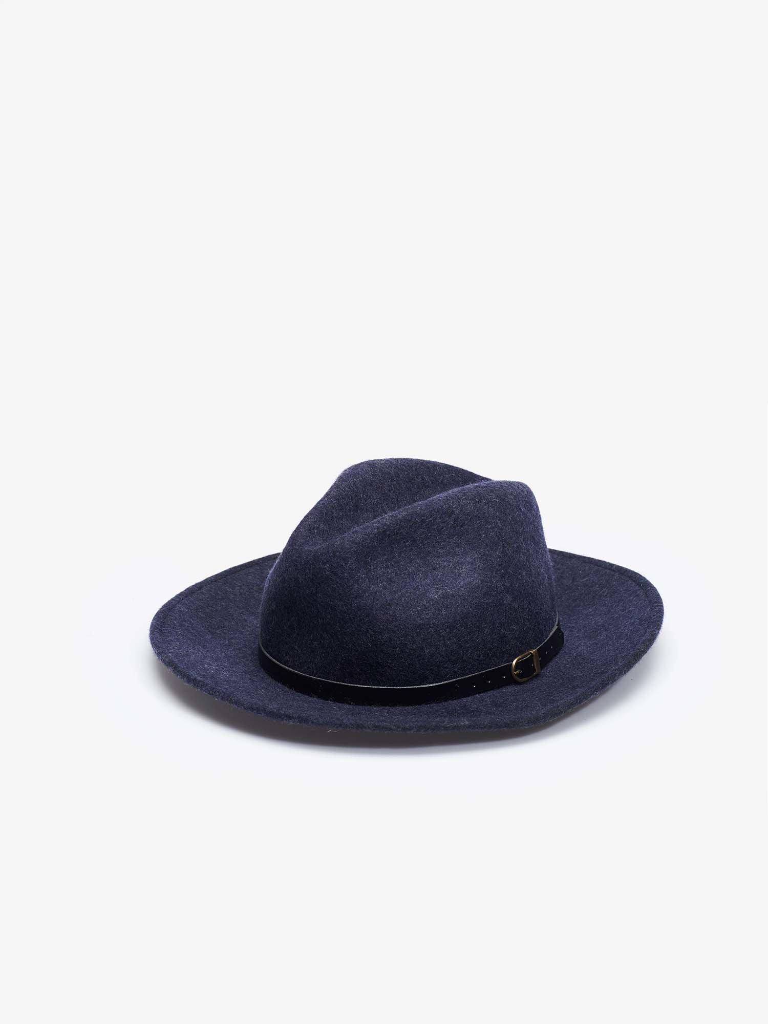 MELANGE FEDORA HAT - Blauer