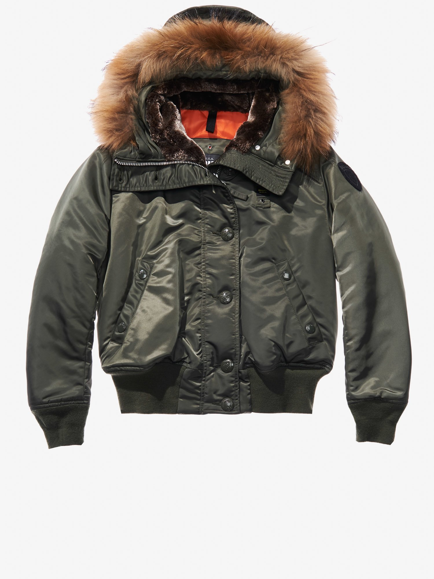 IRENE AVIATOR BOMBER JACKET WITH FUR HOOD - Blauer