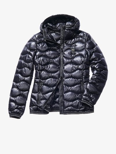 GRETA WAVE-QUILTED SHINY DOWN JACKET__