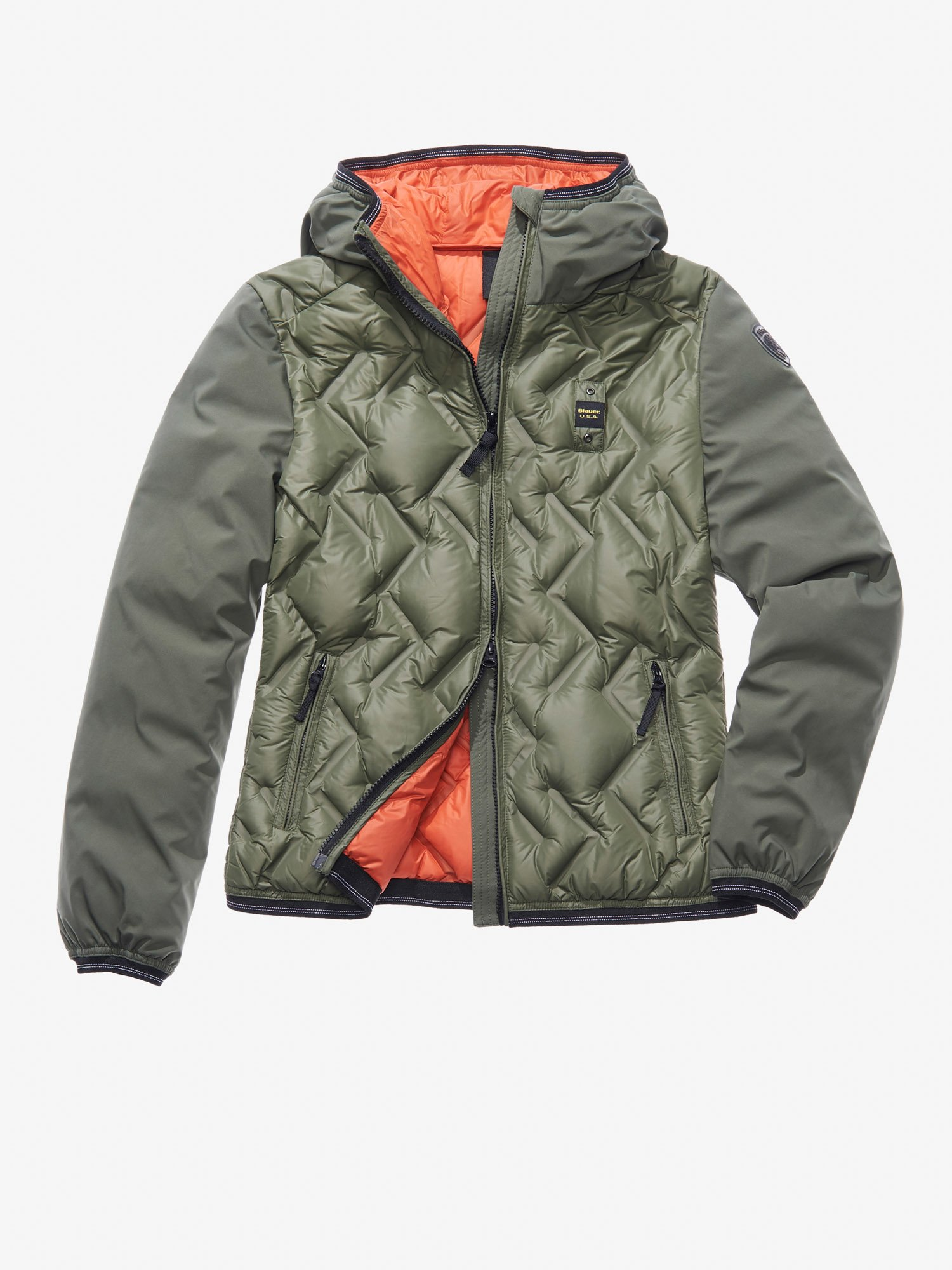 MATILDE NYLON AND SOFTSHELL DOWN JACKET - Blauer