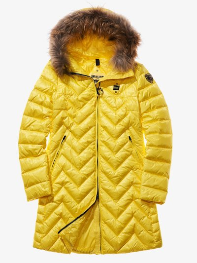 LUDOVICA ZIG ZAG-QUILTED DOWN COAT__