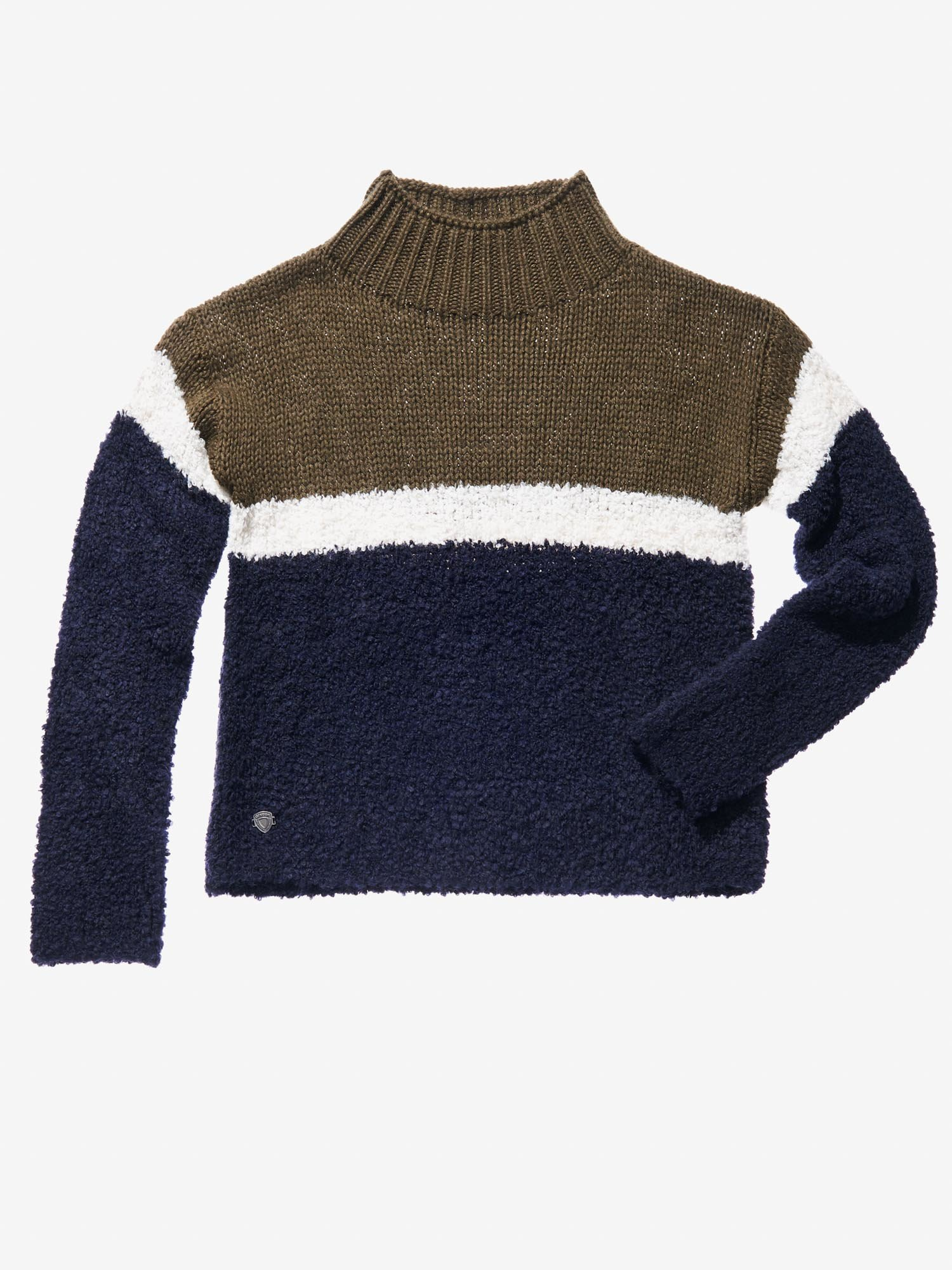 Blauer - STRIPED TURTLENECK - Baltic Sea - Blauer