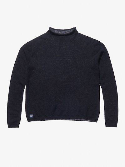 STOCKING STITCH KNIT WOOL CASHMERE TURTLENECK