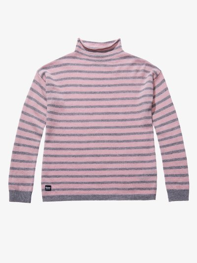 STRIPED WOOL AND CASHMERE TURTLENECK