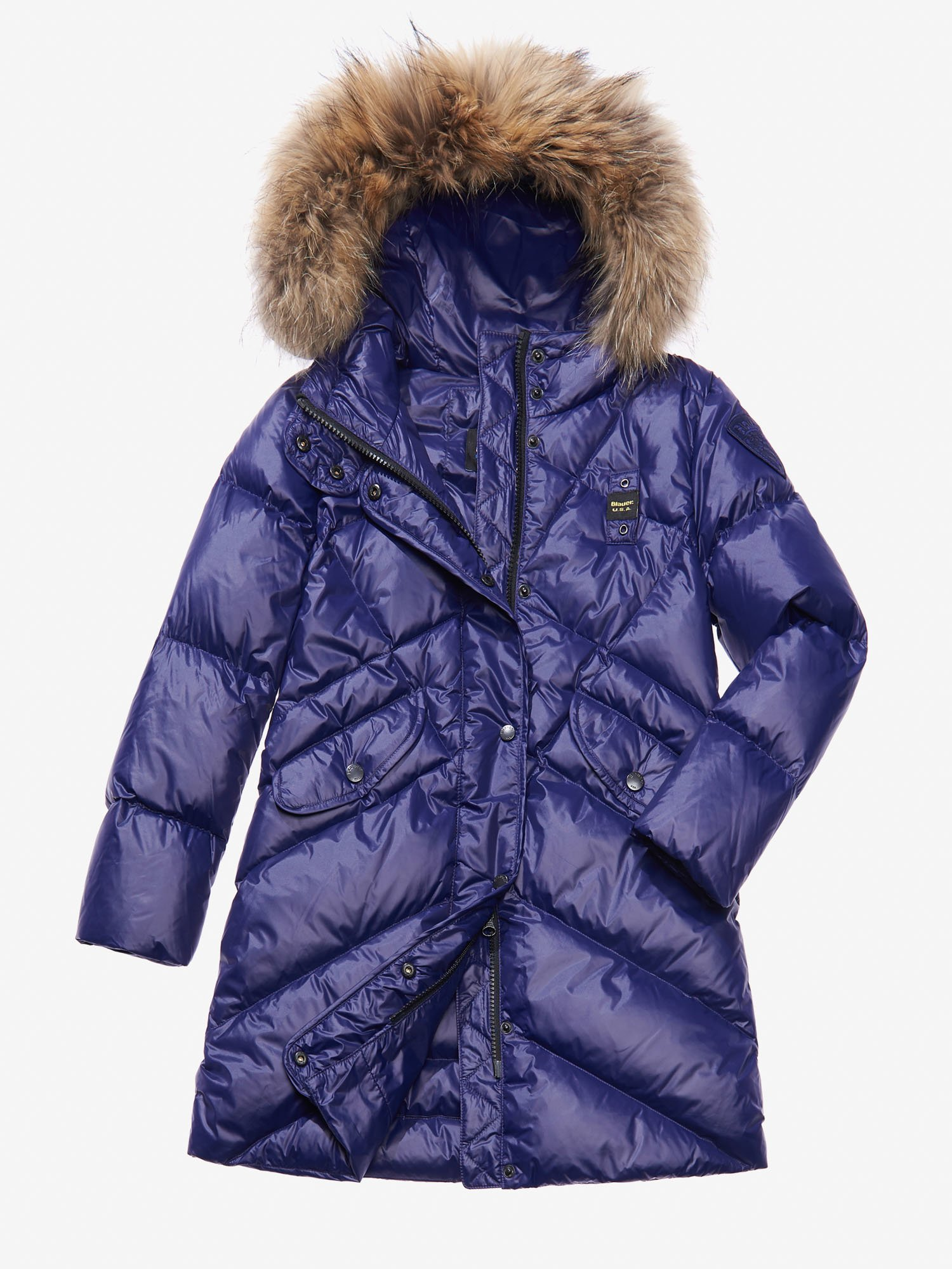 Blauer - PETRA QUILTED DOWN COAT WITH HOOD - Blueberry - Blauer