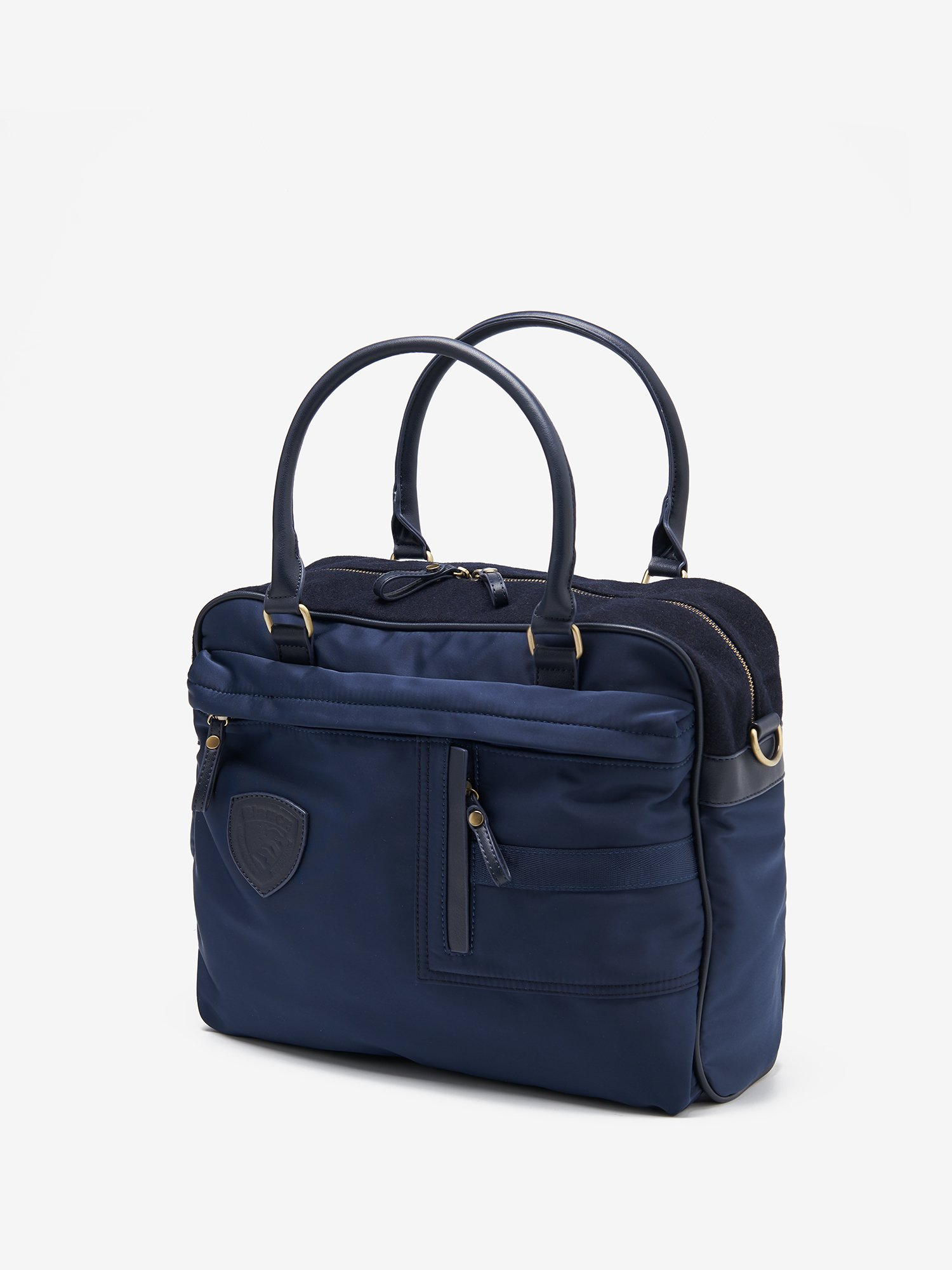 SOFT BRIEFCASE WITH TWO HANDLES - Blauer
