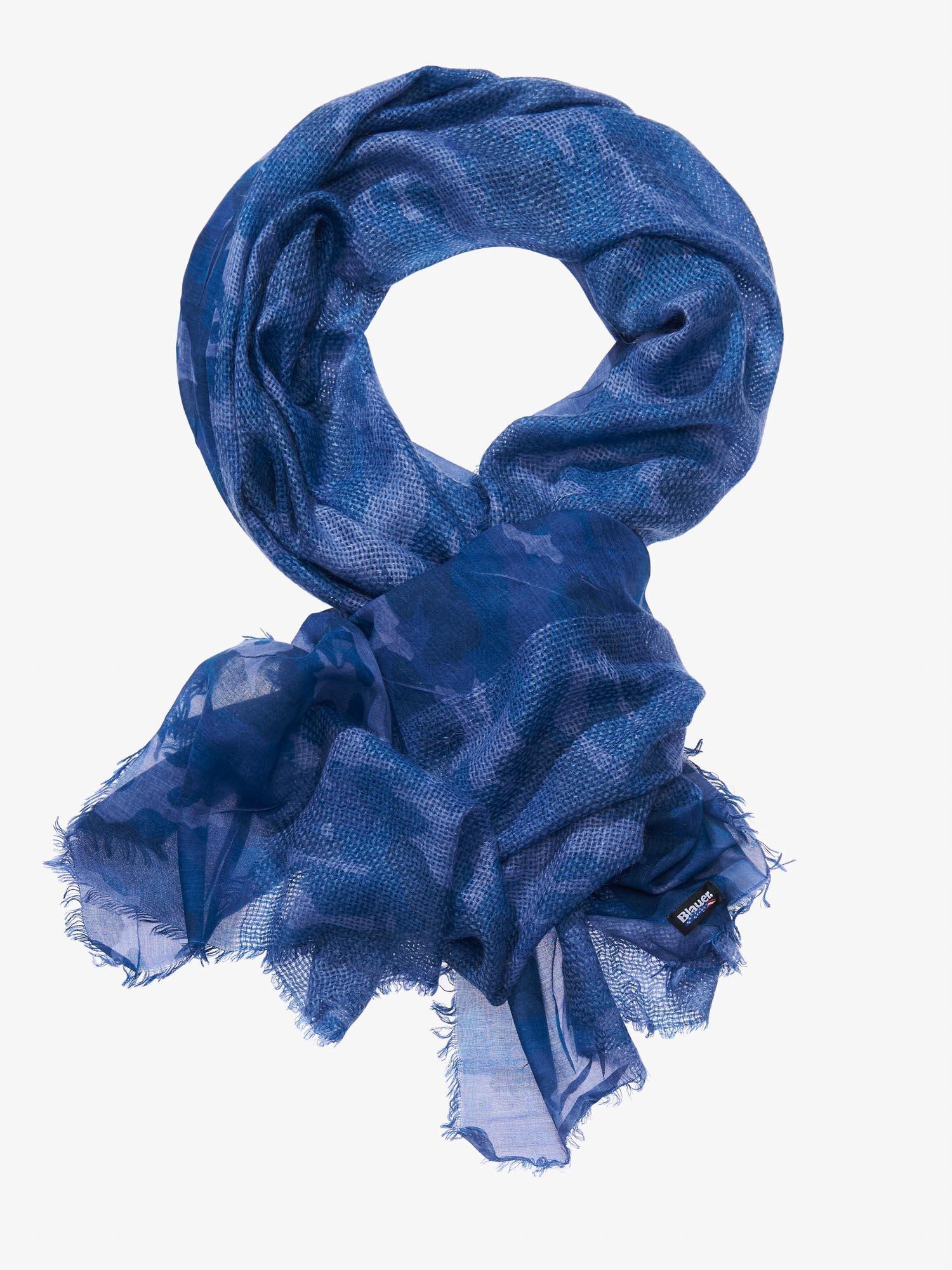 Blauer - STOLA CAMOUGLAGE - Blu - Blauer