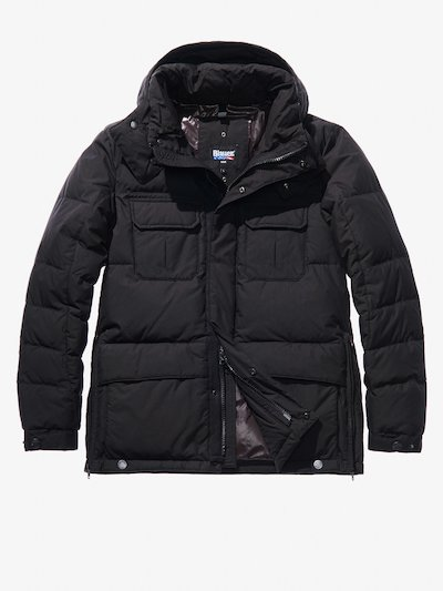 GABRIELE COTTON AND NYLON POLICE-STYLE DOWN COAT