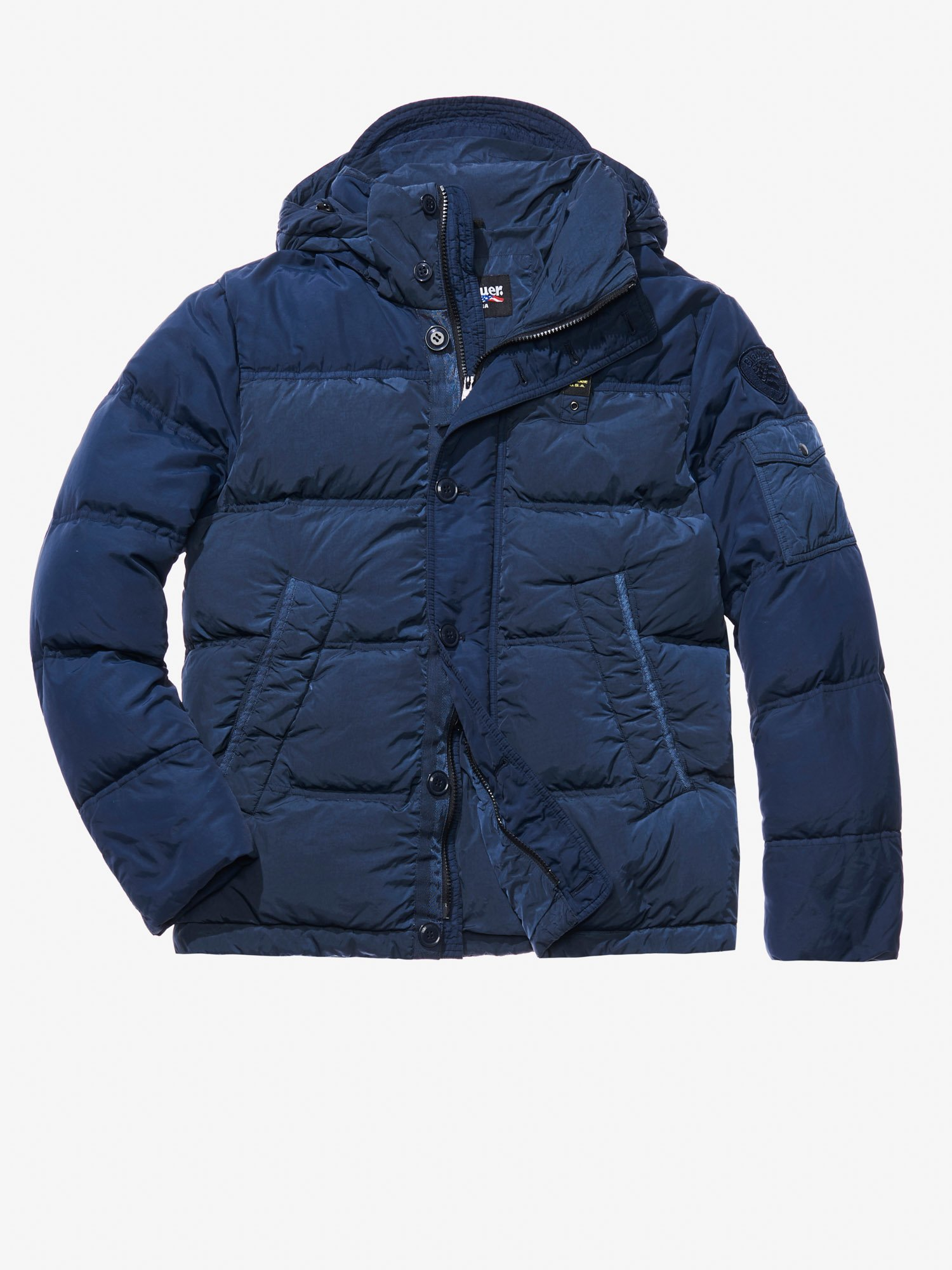 55b4f0f453 Blauer - MATTEO GARMENT DYED DOWN JACKET - blue - 1 ...