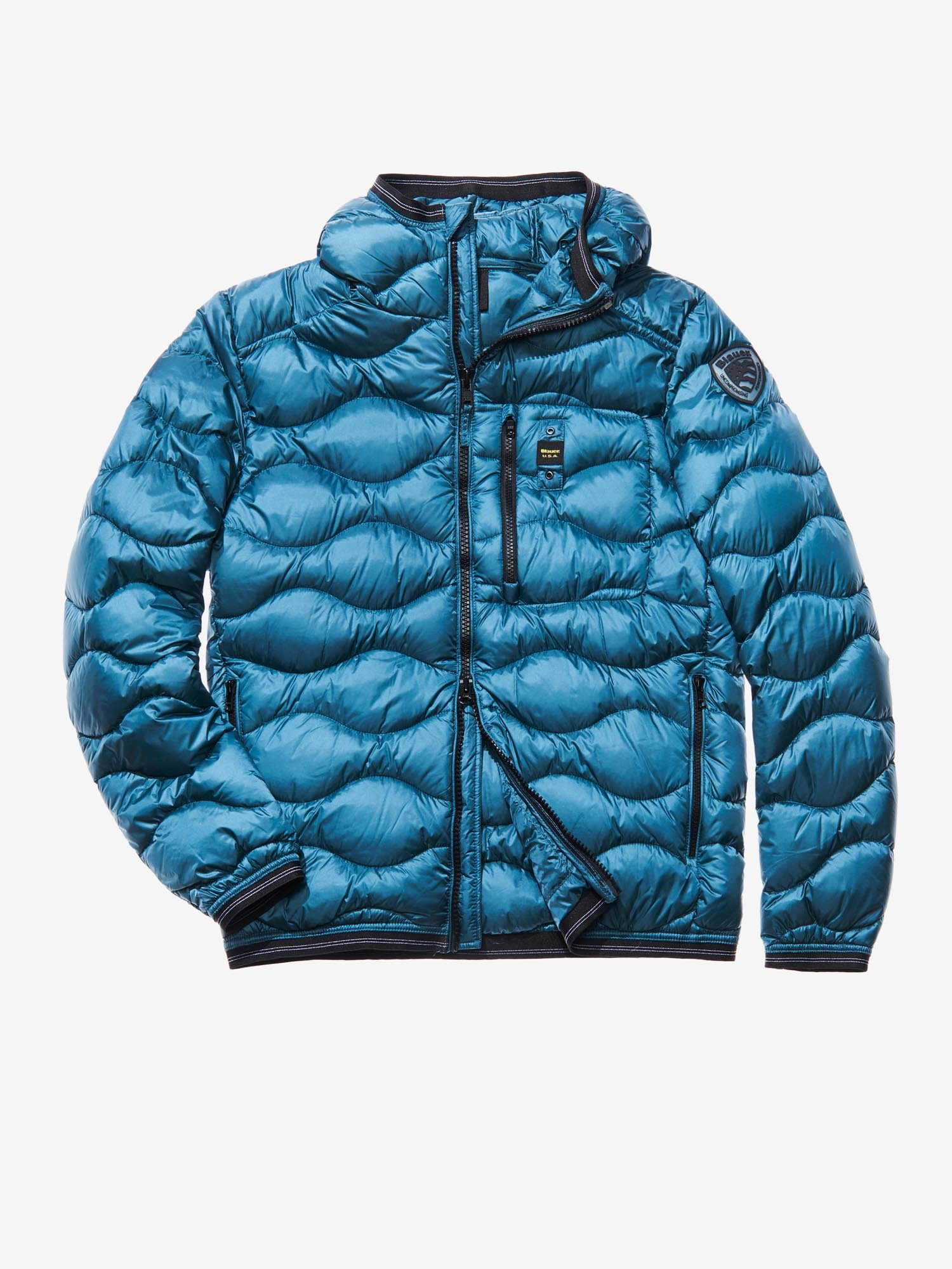 DOMENICO WAVE-QUILTED MILITARY-STYLE DOWN JACKET - Blauer