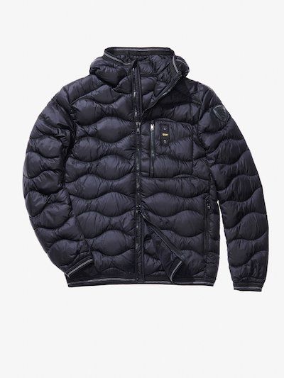 DOMENICO WAVE-QUILTED MILITARY-STYLE DOWN JACKET