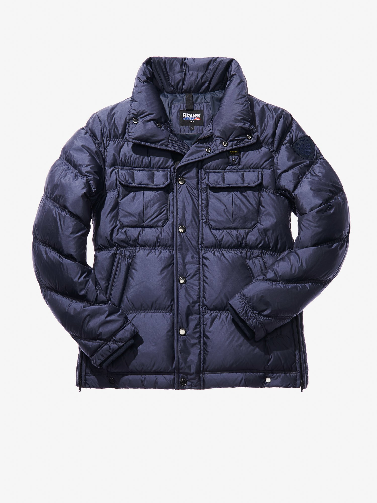 Blauer - GIOVANNI FOUR-POCKET POLICE-STYLE DOWN JACKET - blue - 1 ... b83f1694fce0