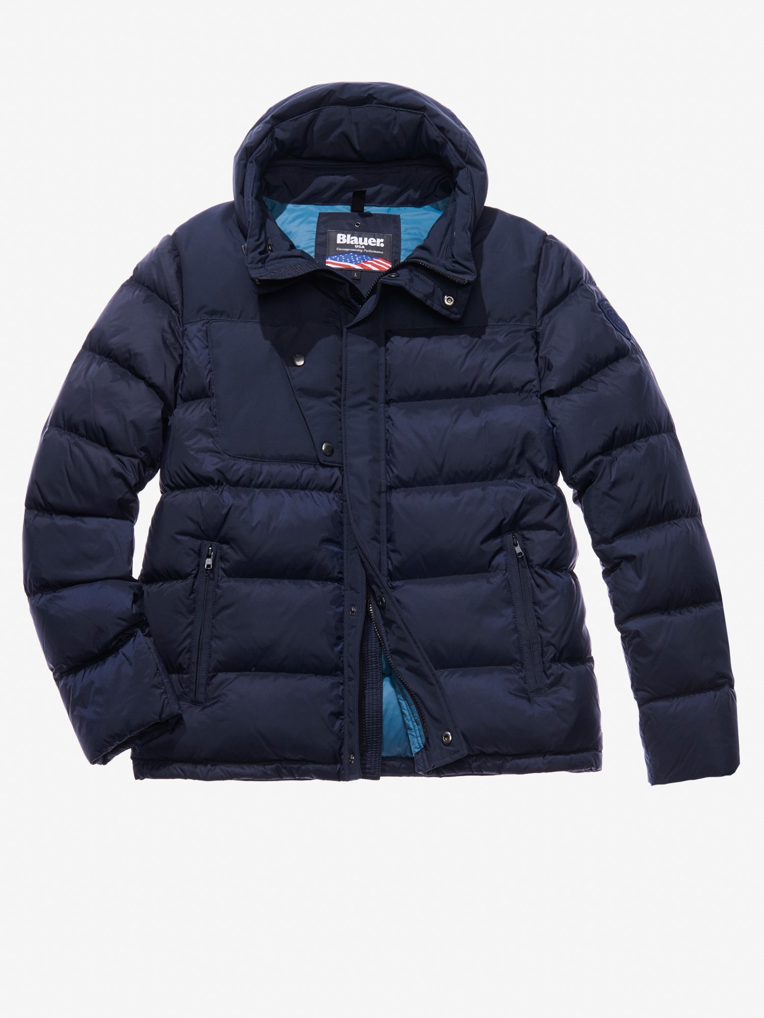 CHRISTIAN COTTON AND NYLON DOWN JACKET - Blauer